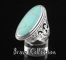 SIZE 11 Finely Made Solid 925 Sterling Silver New Turquoise Women Ring ST-200