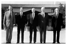 Silver Halide Photo Of Five US Presidents Nixon Ford Carter Reagan And Bush Sr.