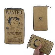 Anime One Piece D.Luffy Long Leather Wallet Purse Holder Coplay Collection