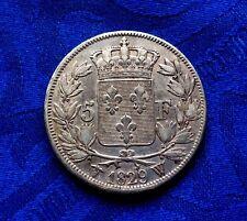 MONNAIE DE 5F ECU EN ARGENT CHARLES X ROI DES FRANçAIS 1829 W LILLE