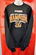 NFL BENGALS 2005 Sweatshirt BLACK ORANGE Med Tiger Championship VINTAGE Collect