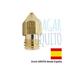 Boquilla 0.3 mm impresora 3D MK8 MK7 nozzle extrusora cabezal de impresion 1.75