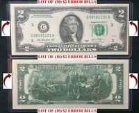 Two $2 Dollar Bill Money Santa Dollar lot of 5 SETS The Santa Claus Dollar U.S
