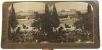 Giardino Da Getsemani Gerusalemme Foto Stereo P49p1n Vintage Analogica