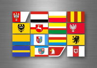 Flag sheet sticker labels country subdivisions states province poland polska