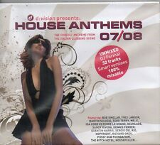 D:VISION PRESENTS : HOUSE ANTHEMS 07/08 - 2 CD (NUOVO SIGILLATO)