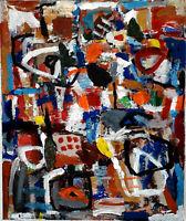 ALEXANDRE PONS/Abstrait contemporain  pièce unique format 65x54 cm