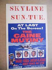 Caine Mutiny Original 1954 Window Card Humphrey Bogart V Johnson, Fred MacMurray