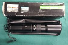 500mm Telephoto Lens, Pentax mount. Toyo optics. Box, bag and paperwork included