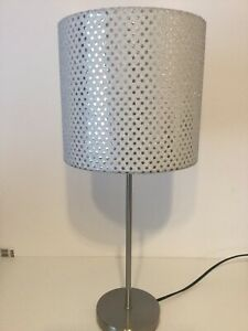 Glam and Glitzy 20cm Handmade drum Table Lamp Shade Silver Glitter