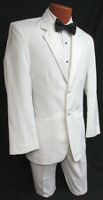 38L White Jean Yves Tuxedo with Pants Clearance Cheap Wedding Cruise Prom Tux
