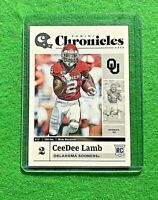 CEEDEE LAMB CHRONICLES ROOKIE CARD COWBOYS 2020 CHRONICLES DRAFT PICKS ROOKIE