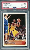 1996 Topps Kobe Bryant #138 Rookie RC PSA 6 EX-Mint Lakers HOF