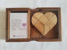 KUBIYA GamesNIB Tangram Wooden Puzzle with Cards & Storage Box ORP $57