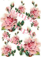 Shabby Roses Colorful Pink Waterslide Decals
