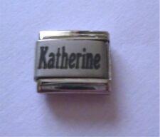 9mm Classic Size Italian Charm  Names Name Katherine
