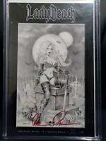 Lady Death (Secrets #1) Cemetery Edition   Ltd 99  Scott Lewis Cover  Signed BP
