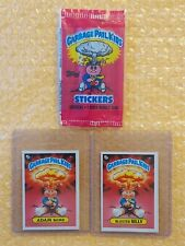 1985 Garbage Pail Kids Adam Bomb & Blasted Billy (UK MINI - checklist back) RARE