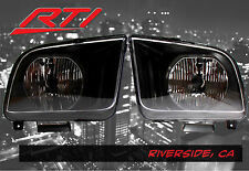 05-09 Ford Mustang Black Headlights Chrome Reflector SVT Cobra Convertible GT
