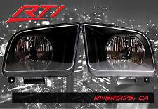 05-09 Ford Mustang Black Headlights Chrome Reflector SVT Cobra Convertible GT