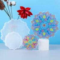 DIY Epoxy Mould Sunflower Coaster Crystal Resin Coaster Decor Gifts Mold Q3I3