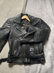 blk dnm leather jacket All Saints