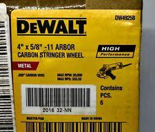 "DEWALT DW4925B 4"" X 5/8""-11 ARBOR HP CARBON STRINGER WHEEL (6 pack)"