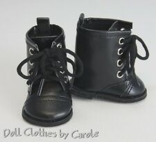 Halloween Black Witch Costume Combat Biker Boots fit American Girl - Army