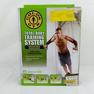 Gold's Gym Total Body Training System Adjustable Resistance Strength Build/Tone