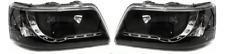 Black DRL Devil Eye LED Projector Headlights For VW Caravelle T5 Transporter