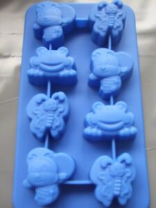 Silicone Mould Bee/Frog Chocolate Tray-Ice,Sweets,Butter,Soap,Wax,Fondant Etc