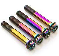 4x Rainbow Titanium Front Caliper Bolts 70mm Race Spec Drilled, Suzuki, Yamaha