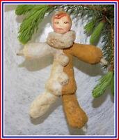 Vintage décorations de sapin de Noël, la Poupée, le Coton, l'URSS #10526