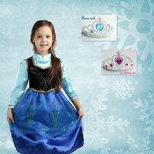 Girls Disney Frozen Princess Anna Costume Birthday Party Dress Size 2.3.4.5.6