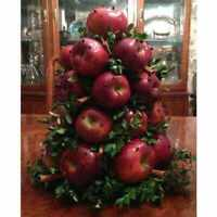 Colonial Williamsburg Wood APPLE CONE Tree Fresh Fruit Holiday Centerpiece - NEW