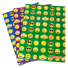 Pack of 3 Emoji A4 Paper Notebooks Hardback 160 Page Lined Writing Books Pads