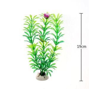 19 cm PVC Aquarium Plant Green Plant Flower Water Fish Tank Aqua Decoration