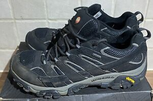 Merrell Moab 2 Gtx Mens  Walking Shoes-Black Size Uk 11 Eu  46