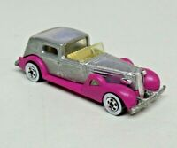 Vintage Hot Wheels 1935 Classic Cadillac Silver Pink Fenders 1981 Malaysia