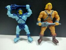 Vintage Masters of The Universe He-Man & Skeletor Figures Cake Toppers 1983