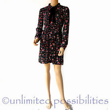 SPORTSGIRL Romantic Rebel Floral Tie Neck Dress New Multi Colour Size 10 No Tags