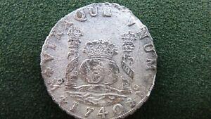 8 reales Felipe V 1740 México naufragio de Hollandia