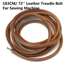 "72"" Leather Belt Vintage Treadle Parts Peddling For Singer Sewing Machine 3/16''"