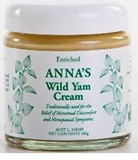 Anna's Wild Yam Cream 100 grams for Menopause, Endometriosis, feminine health
