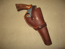 "Red Head belt Holster Colt New Service S&W 1917 5"" GC"