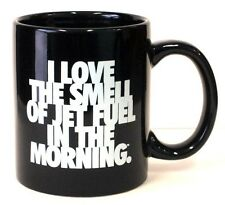 """""""I Love the Smell of Jet Fuel in the Morning"""" - Aviation Coffee Mug - Black"""