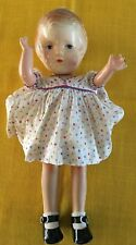 "Aranbee Composition Doll Fully Jointed Abt 12"" Molded Hair-Offered As Is"" Patsy?"