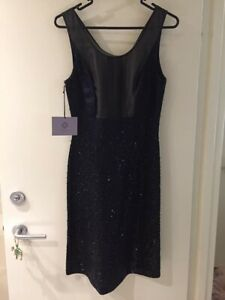 #savingglory VERA WANG Lavender Label NWT Navy Pencil Dress Star Embellished 6-8