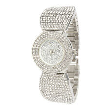 Alias Kim Silver Round Crystal Women's Steel Bracelet Bangle Quartz Watch F120