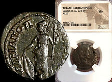New ListingGordian Iii, Roman Emperor / Athena with Spear & Shield 238-244 Ad Ngc Vf + Coa